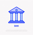 bank thin line icon modern vector image