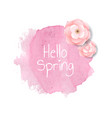 banner blob with flowers vector image vector image