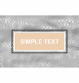 banner template wave background of lines banner vector image