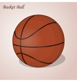 Basket ball isolated on a pink background Simple vector image vector image