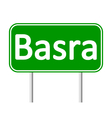 Basra road sign vector image vector image