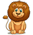 Behaved brown lion vector image vector image
