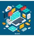Big Data Isometric Concept vector image vector image