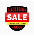 Black Friday sale banner Black red and yellow vector image vector image