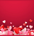 bright valentines day or mothers day background vector image
