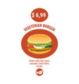burger poster style fast food vector image vector image