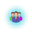 Business team icon comics style