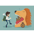 Businessman steal money from lion vector image vector image