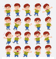 cartoon character white boy in jeans set with vector image