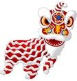 Cartoon Chinese lion mascot vector image vector image