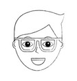 cartoon face man male character person vector image vector image
