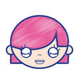 child girl face with hairstyle design vector image vector image