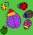Child ladybugs vector image vector image