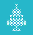christmas tree cross stitch vector image vector image