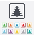 Christmas tree sign icon Holidays button vector image