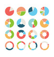 circle section round chart wheel circular hub vector image