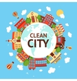 Clean city scape background vector image vector image