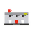 coffee and tea machine for making drink vector image vector image