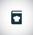 cooking book icon vector image vector image