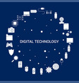 creative digital technology icon background vector image
