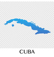 cuba map in north america continent design vector image vector image