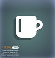 cup coffee or tea icon symbol on the blue-green vector image