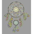 Decorative dream catcher vector image vector image