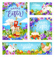 easter christian religion eggs and greetings vector image
