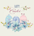 easter eggs greeting card in pastel colors vector image vector image