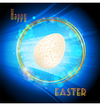 Easter glowing circle border and egg background vector image vector image