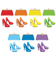 female bag and shoes vector image vector image