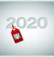 festive poster with digits 2020 in center vector image