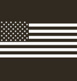 flag american black and white in flat design vector image vector image