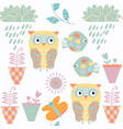 floral spring fantasy odd seamless pattern with vector image