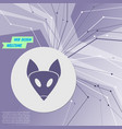 fox icon on purple abstract modern background the vector image