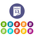friday calendar icon simple style vector image vector image