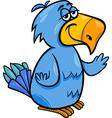 funny parrot bird cartoon vector image