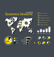 geographical infographic element planet map and vector image vector image