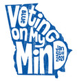 georgia poster senate election jan 2021 vector image