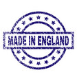 grunge textured made in england stamp seal vector image