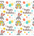 happy birthday pattern seamless trendy birthday vector image