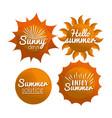 happy summer vacations vector image