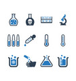 laboratory icons vector image