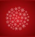 light beautiful festive winter composition vector image vector image