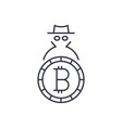 logo bitcoin concept of anonymity and security vector image vector image