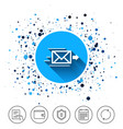 mail delivery icon envelope symbol message vector image vector image