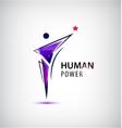 man logo human body vector image vector image