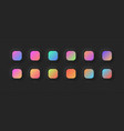 modern vivid color gradients set for ui design on vector image