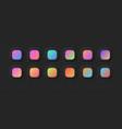 modern vivid color gradients set for ui design vector image