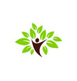 nature people logo icon design vector image